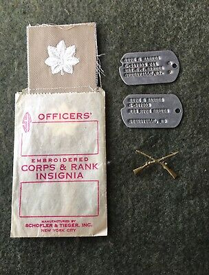WWII U.S. Army Officer's Personal Lot & T-41 Dog Tags