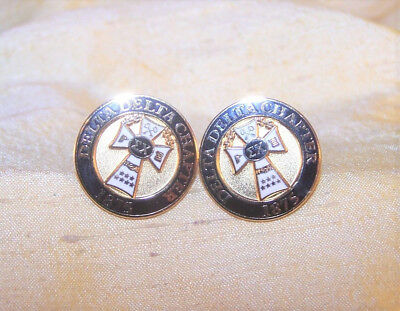 VINTAGE Sigma Chi fraternity pair of cuff links, Delta Delta chapter Purdue NICE