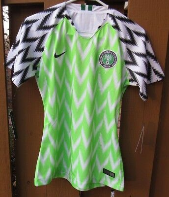 New Nike Women s Nigeria Home 2018 World Cup Jersey (893957-100) Size Small e93576f3a