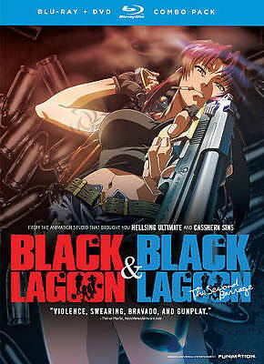Black Lagoon/Black Lagoon: The Second Barrage (3-Blu-ray Disc, 2012, 4-DVD's)