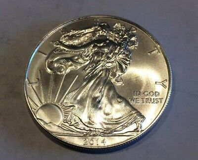 Roll of 20 - 2014 1 oz Silver American Eagle $1 Coin BU (Lot, Tube of 20)