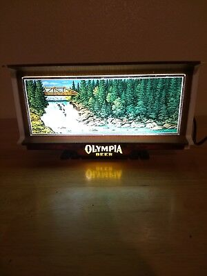 VTG Olympia Beer Waterfall Motion Light Cash Register Display Sign Promo WORKS!