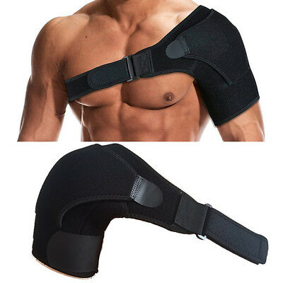 Shoulder Brace Support with Adjustable Straps and Pressure Pad for Men and Women