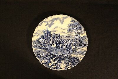 Myott Royal Mail Blue Staffordshire Ware Bread Butter Plate