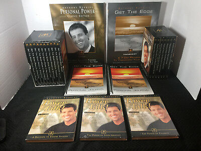 Anthony Tony Robbins Personal Power Classic & Get the Edge CD Box Sets