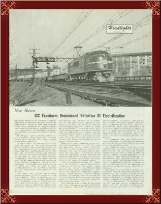 New Haven Railroad Electrification!--Very Rare History From 1961!