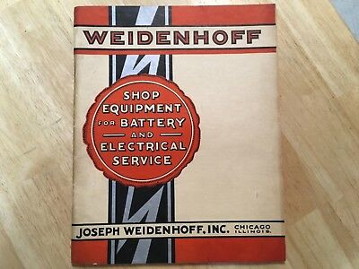 Rare 1931 WEIDENHOFF AUTOMOBILE/AVIATION Battery Electric Shop Equipment Catalog