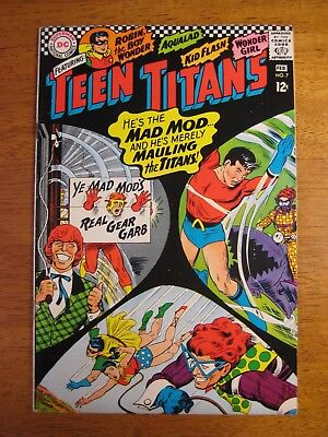 Wow! TEEN TITANS #7 1967 Super-Colorful, Bright, Glossy! (VF+ 8.5/9.0) Gorgeous!