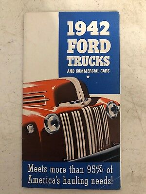 1942 Ford Trucks And Commercial Cars Brochure