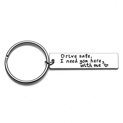 Drive Safe I Need You Here With Me Alloy Couple Family Love KeyRing Chain Gift E