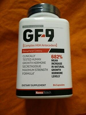 Novex Growth Factor 9 - 84 Capsules HGH-Factory Sealed  Exp 04/21