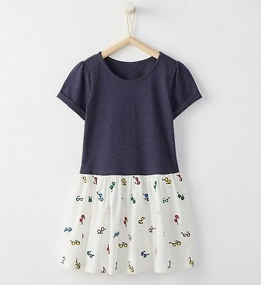 NWT Hanna Andersson 100% Cotton Sunny Playdress, Navy