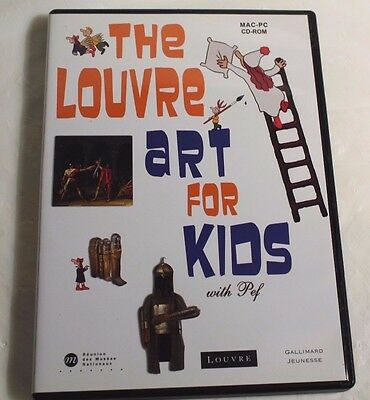 The Louvre Art for Kids MAC-PC CD-ROM From France RARE Import FREE SHIPPING
