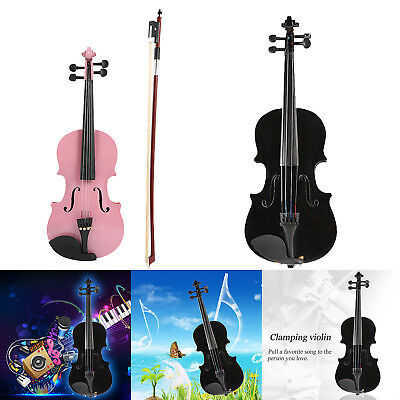 1/8 Kids Children Natural Acoustic Violin Fiddle with Case Bow Rosin Toys Gifts