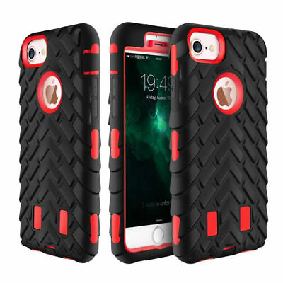 For Iphone 6 6S 7 7 Plus SE 5 4S Armor Shockproof Heavy Duty Rubber Case Cover
