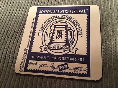 Vintage Beer Coaster, Boston Brewers Festival, WORLD TRADE CENTER, NY, 1993