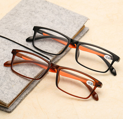 b54586be4ff Resin Classic Retro Vintage Reading Glasses Presbyopic Transparent +0.5 to  +4.0