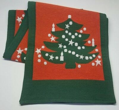 Waechtersbach Vintage Christmas Tree Table Runner Good Condition Woven 72'""
