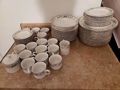 Farberware Fine China Wellesley 486 Lot Of 62 Pcs Dinner Plate Set Free Shipping