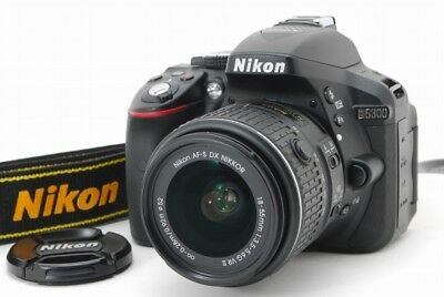 EXC+++ Nikon D5300 DSLR Camera Body Black with 18-55mm VR II Lens from Japan