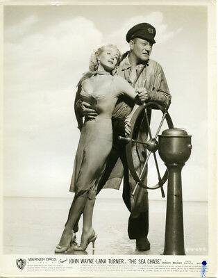 Lana Turner & John Wayne ~8x10 Vintage/Original B&W Photo