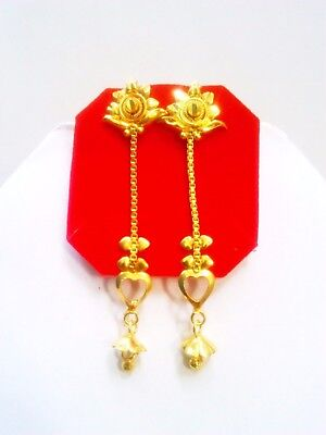 Indian Traditional 18k Gold Plated 2 5 Long Earrings Jhumki