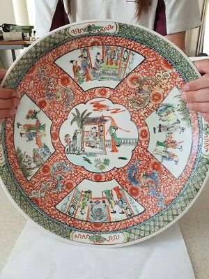 Antique Chinese Famille Verte Charger