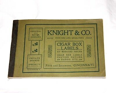 Late 1800S Knight & Co. Cigar Box Label 70+Pg Book Kkk Related, Uncle Sam, Etc.