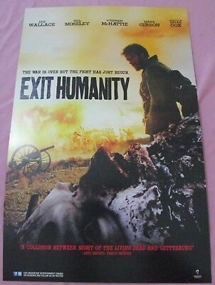 Exit Humanity / A Little Bit Zombie Double Sided Promo Poster Fan Expo Comic Con