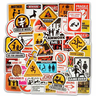 50Pieces Car Skateboard Snowboard Motorcycle Bike Laptop Sticker Wall Accessory