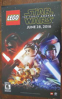 Lego Star Wars The Force Awakens Promo Poster  Comic Con 11 x 17 Fan Expo 2016