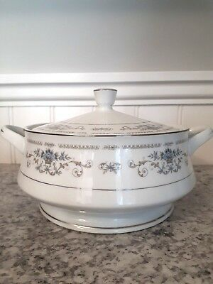 """Christmas Sale: Fine China of Japan """"DIANE"""" Round Covered Vegetable"""