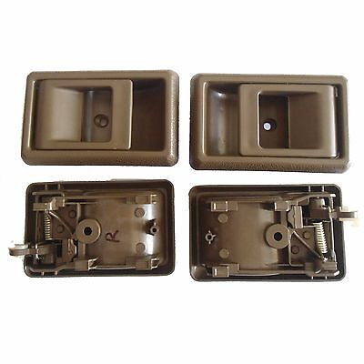 For 95-00 Toyota Tacoma Inside Interior Left Right Side Door Handle Brown 1Set