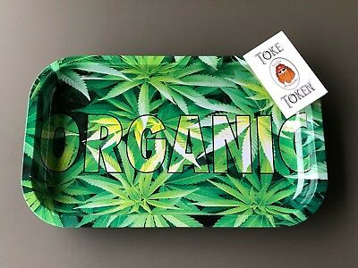 11 x 6.5 Medium Organic Tobacco Rolling Tray + 1 Pack Rolling Papers