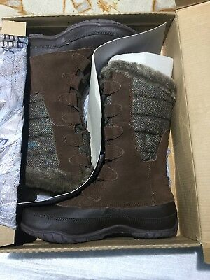e4305e325 THE NORTH FACE Womens Nuptse Purna II Brown Waterproof Insulated Boots Size  5
