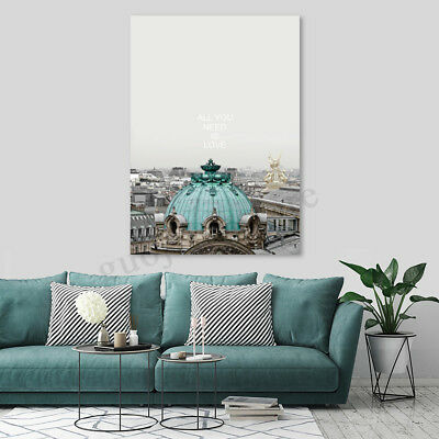 Modern Castle Canvas Print Painting Travel Wall Art Pictures Home Decor Unframed
