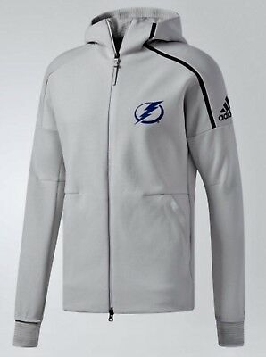 differently 3f878 7fba8 ADIDAS TAMPA BAY Lightning ZNE Pulse Grey Full Zip Hoodie Jacket New Mens  XL 2XL