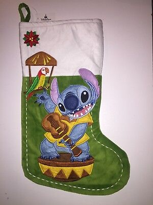 Disney Parks Stitch Christmas Holiday Stocking NEW with Tag