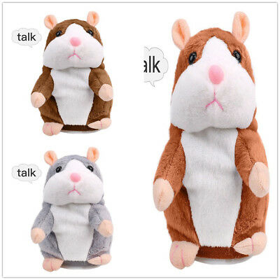 Cute Talking Hamster Repeats Electronic Pet Interactive Toys Gift for Kids AU
