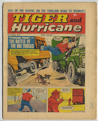 Tiger 16th April 1966 (Jet-Ace Logan, Olac The Gladiator, Roy of the Rovers...)