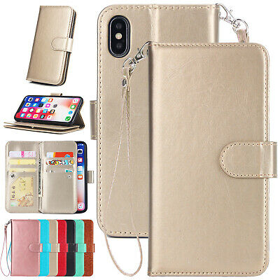 For iPhone XS Max XR X 8 7 6 New Wallet Case Magnetic Stand Leather Flip Cover