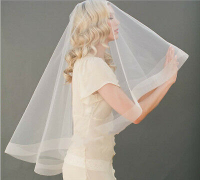 Wedding Veils Bridal Veil with Comb 2 Layers Cover Face Bride Accessories Formal