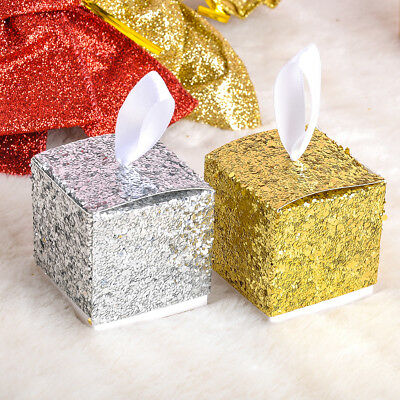 Sparkle Favor Box 12pc DIY Paper Wedding Favor Box Bridal Shower Baby Gift Boxes