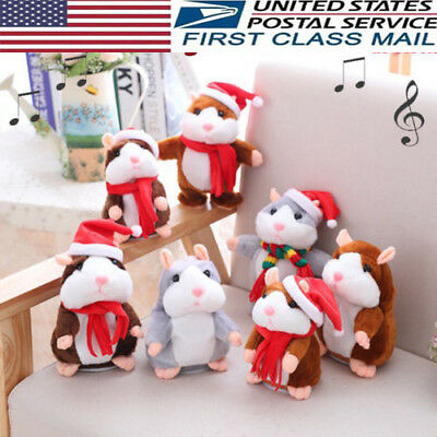 Speak Sound Record Talking Hamster Mouse Plush Toy Child Kids CHRIST MAS GIFTS #