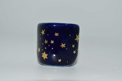 Golden Stars Blue Chime Candle Holder 1 pc