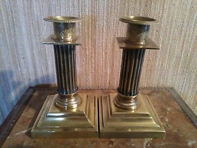 Pair of Candle holders Bronze
