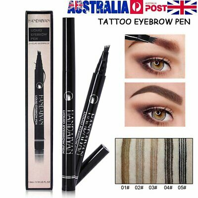Microblading Tattoo Eyebrow Ink Pen Eye Brow Pencil Brow Enhancer Stencil S4