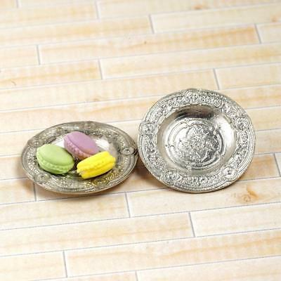1:12 Doll House Accessories Miniature Metal Carving Tray Dolls-House