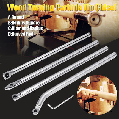 Tungsten Carbide Tip Wood Turning Chisel Changeable Insert For Woodworking Lathe