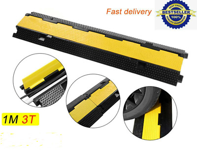 Dual Channel Modular Rubber Guard Cover Cable Protectors Hose Ramp Outdoor 1M